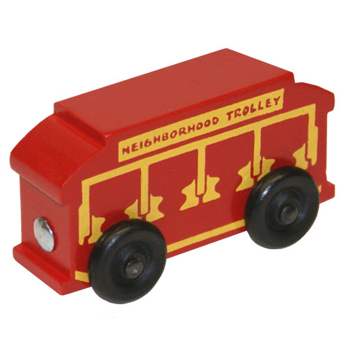 Track Size Trolley- Wooden Toy Made in the USA
