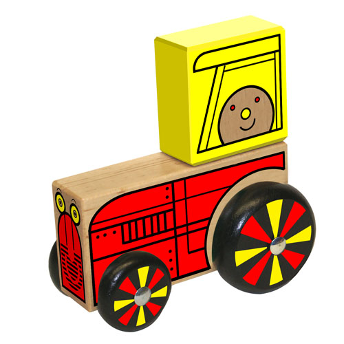 Wooden Farm Tractor- Wooden Toy Made in the USA