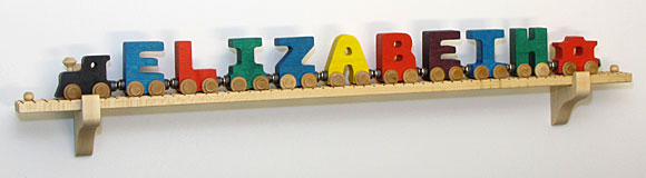 NameTrain Wall Mount Set w/11 Cars
