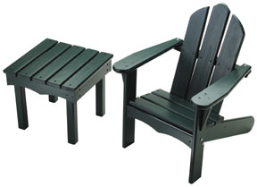 Child's Adirondack Chair and End Table