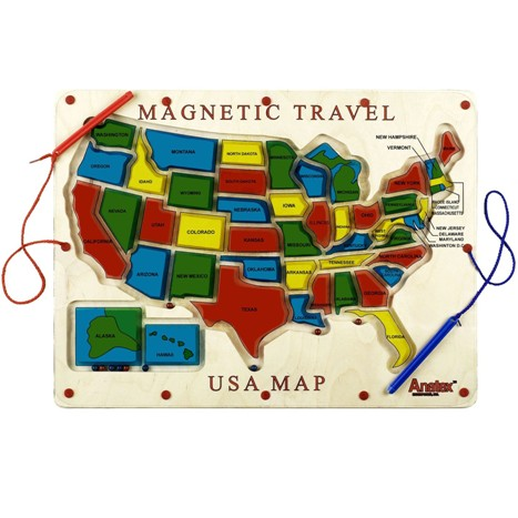 Magnetic Travel USA Map
