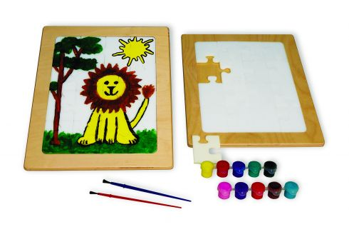 Make-Your-Own Picture and Learning Puzzle