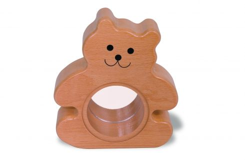 Wooden Bear Bank