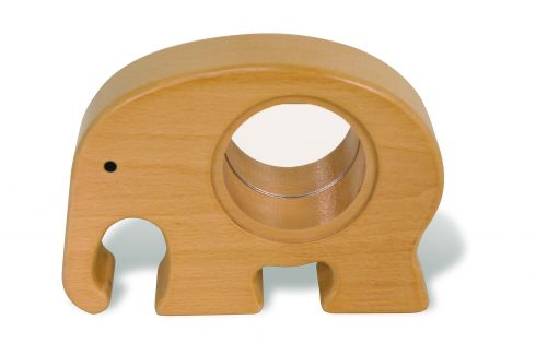 Wooden Elephant Bank